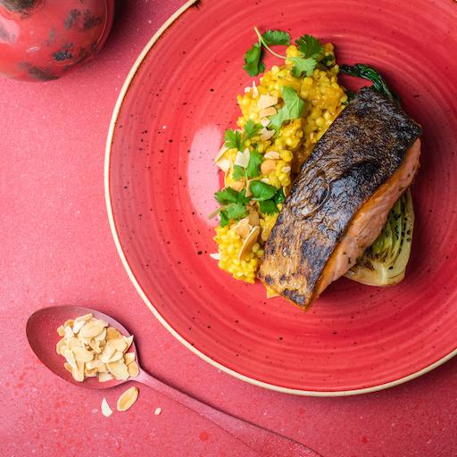 Páros ajánlat: Cukkini krémleves lazac steak