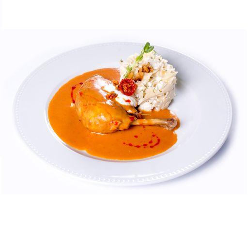 Paprikás csirke kapros túrós csuszával