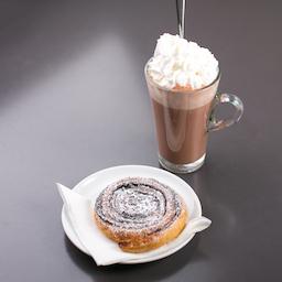 Forró csoki kakaós csiga